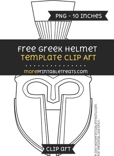 Free Greek Helmet Template - Clipart