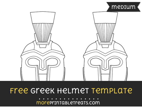 Free Greek Helmet Template - Medium