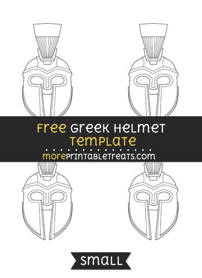 Free Greek Helmet Template - Small