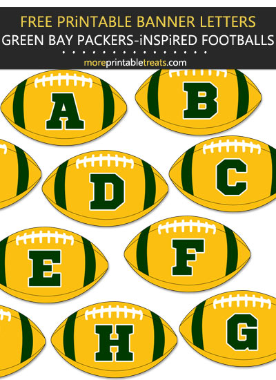 Free Printable Green Bay Packers-Inspired Football Bunting Banner
