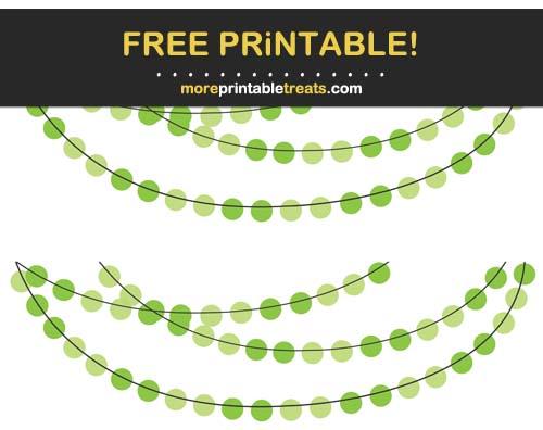 Free Printable Green Circles Bunting Banner Cut Outs
