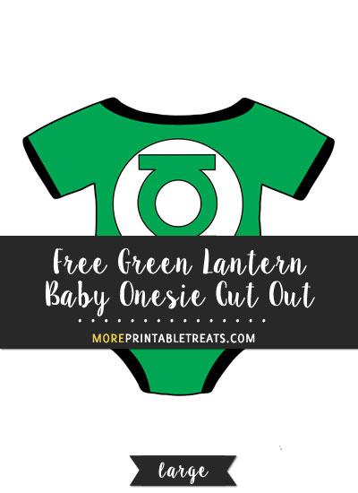 Free Green Lantern Baby Onesie Cut Out - Large