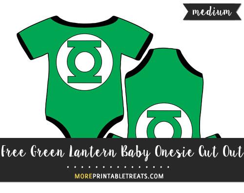 Free Green Lantern Baby Onesie Cut Out - Medium