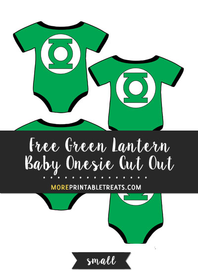 Free Green Lantern Baby Onesie Cut Out - Small
