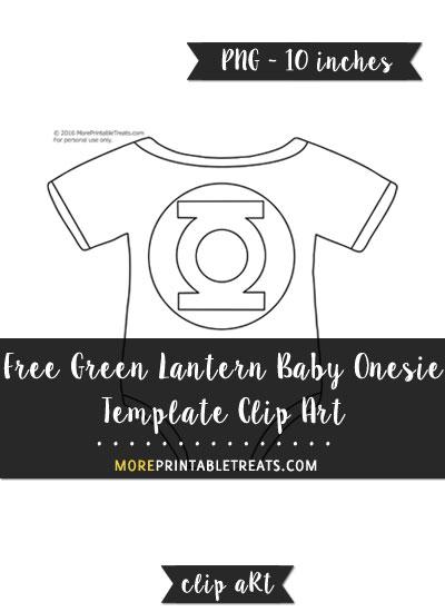 Free Green Lantern Baby Onesie Template - Clipart