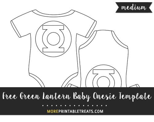 Free Green Lantern Baby Onesie Template - Medium Size
