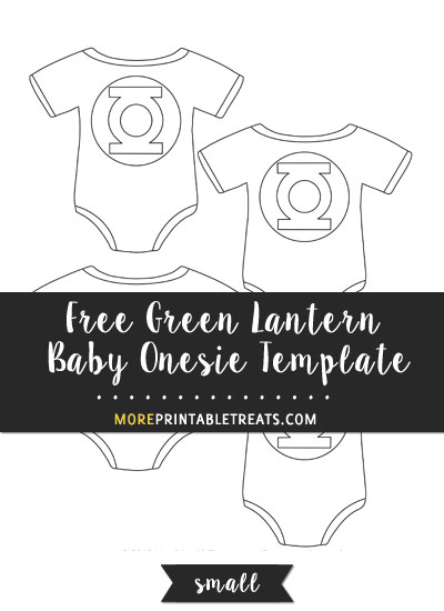 Free Green Lantern Baby Onesie Template - Small Size