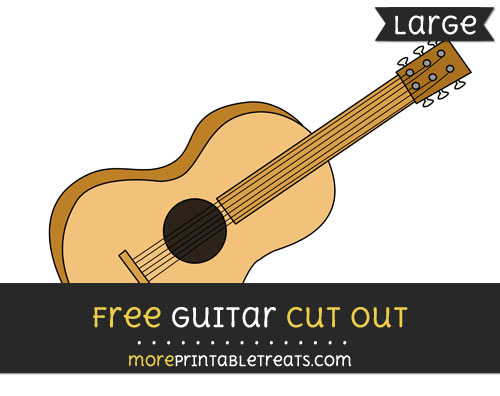 Free Guitar Cut Out - Large size printable