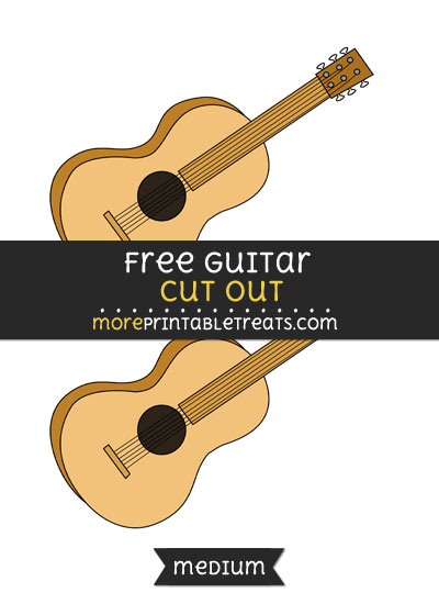 Free Guitar Cut Out - Medium Size Printable