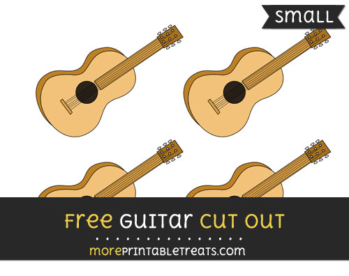 Free Guitar Cut Out - Small Size Printable