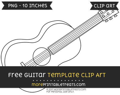 Free Guitar Template - Clipart