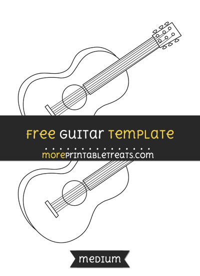 Free Guitar Template - Medium