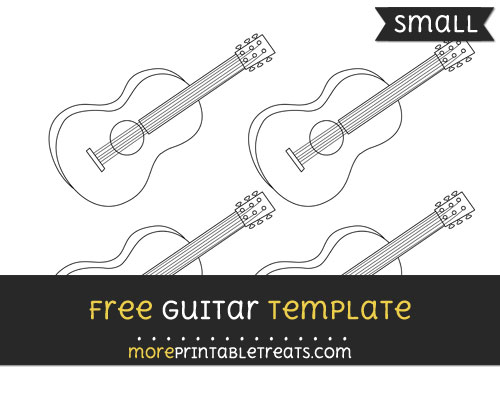 Free Guitar Template - Small