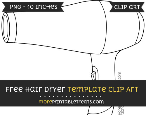 Free Hair Dryer Template - Clipart
