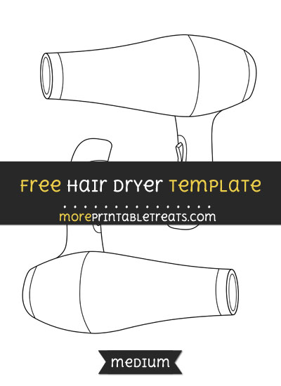 Free Hair Dryer Template - Medium