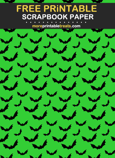 Free Printable Halloween Bats Scrapbook Paper
