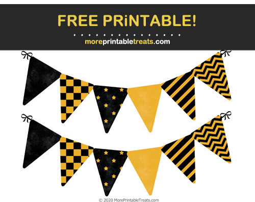 Free Printable Halloween Pennant Flags Cut Outs