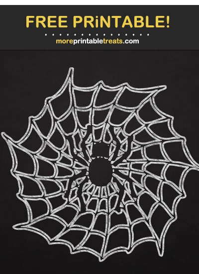 Free Printable Halloween Spider Web Chalk Outline Cut Out