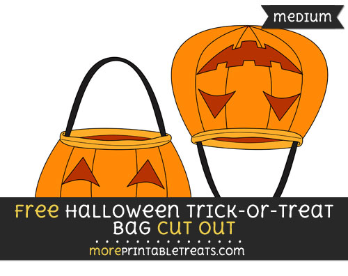 Free Halloween Trick Or Treat Bag Cut Out - Medium Size Printable