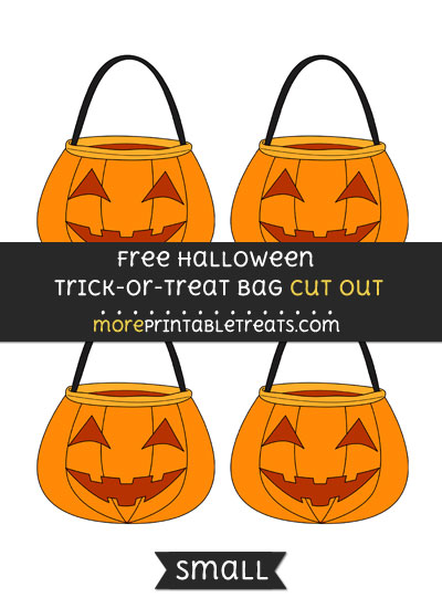 Free Halloween Trick Or Treat Bag Cut Out - Small Size Printable