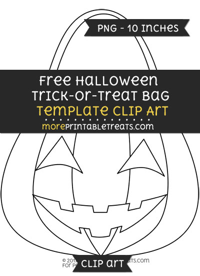Free Halloween Trick Or Treat Bag Template - Clipart