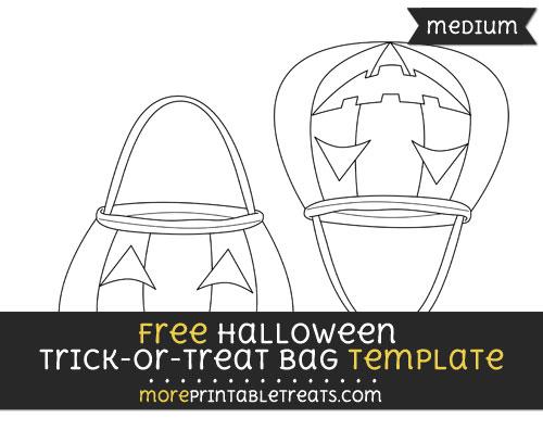 Free Halloween Trick Or Treat Bag Template - Medium