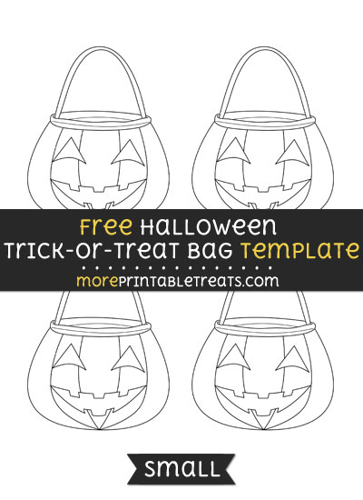 Free Halloween Trick Or Treat Bag Template - Small