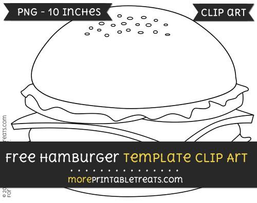 Free Hamburger Template - Clipart