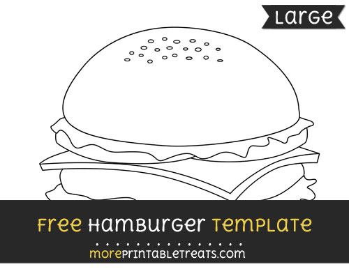 Free Hamburger Template - Large