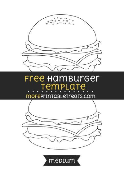 Free Hamburger Template - Medium
