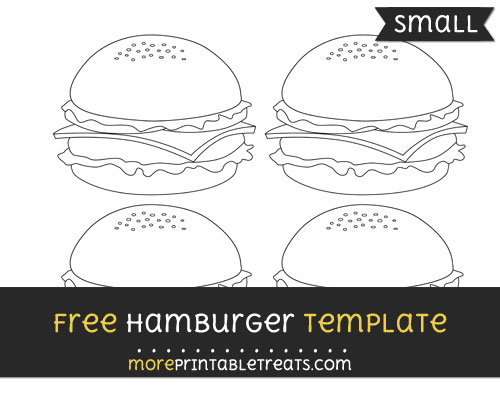 Free Hamburger Template - Small