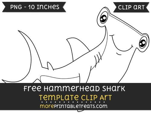 Free Hammerhead Shark Template - Clipart
