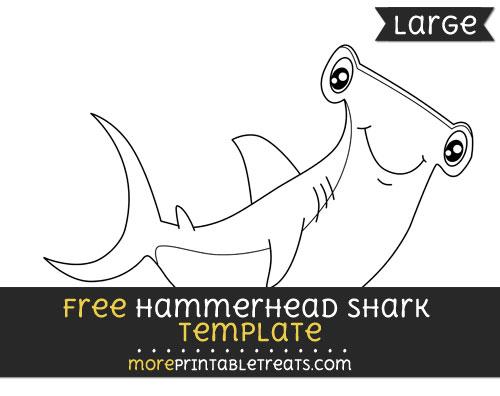 Free Hammerhead Shark Template - Large