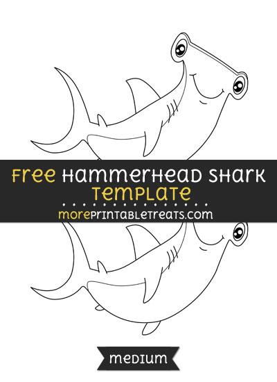 Free Hammerhead Shark Template - Medium