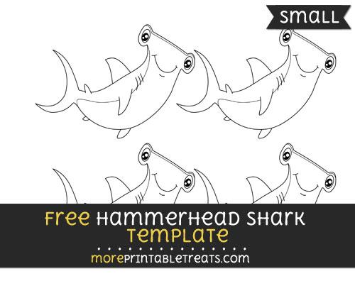 Free Hammerhead Shark Template - Small