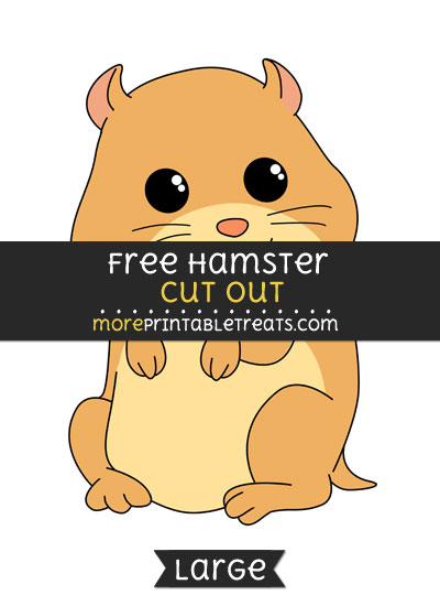 Free Hamster Cut Out - Large size printable