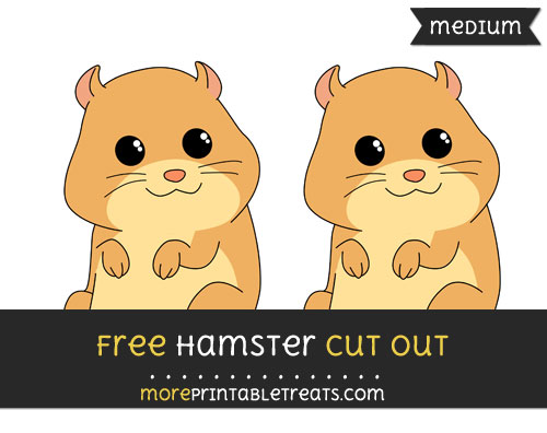 Free Hamster Cut Out - Medium Size Printable