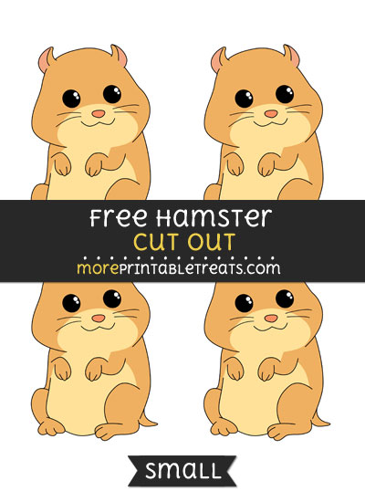 Free Hamster Cut Out - Small Size Printable