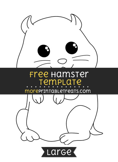 Free Hamster Template - Large