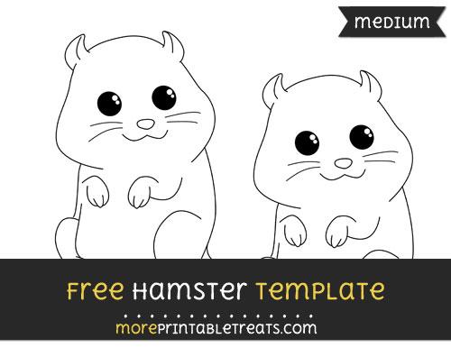 Free Hamster Template - Medium