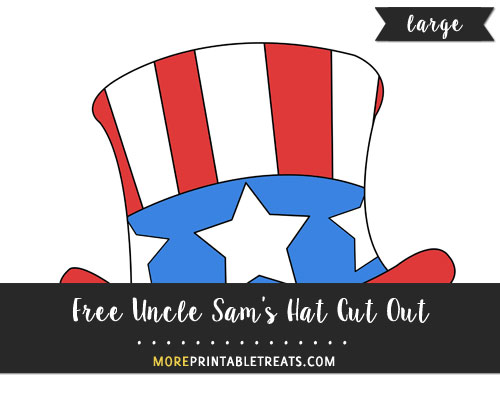 Free Hand Drawn Uncle Sam Hat Cut Out - Large
