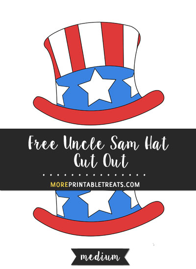 Free Hand Drawn Uncle Sam Hat Cut Out - Medium
