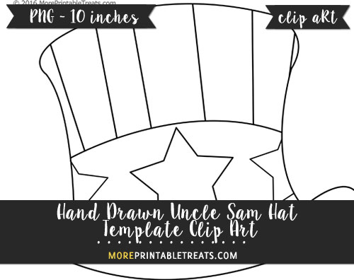 Free Hand Drawn Uncle Sam Hat Template - Clipart