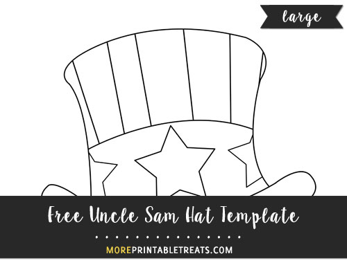 Free Hand Drawn Uncle Sam Hat Template - Large