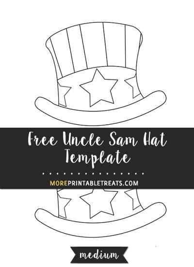 Free Hand Drawn Uncle Sam Hat Template - Medium