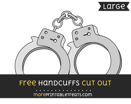Free Handcuffs Cut Out - Large size printable
