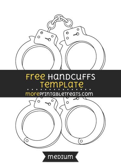 Free Handcuffs Template - Medium