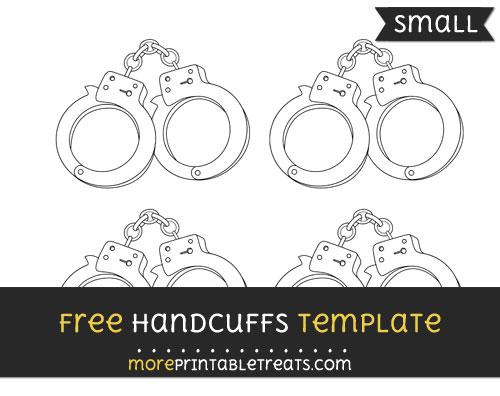 Free Handcuffs Template - Small