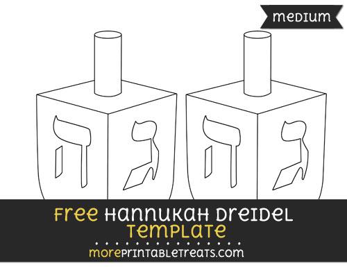 Free Hannukah Dreidel Template - Medium