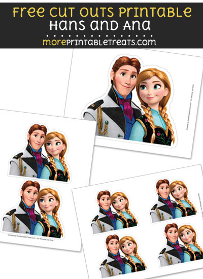 Free Hans and Ana Cut Out Printable with Dashed Lines - Frozen